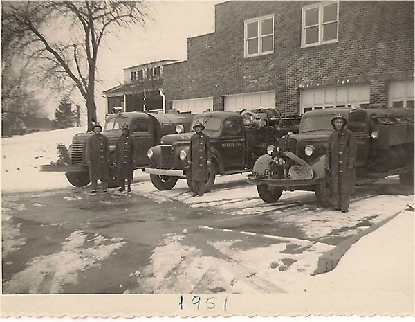 Suffield Fire Department vehicles, circa 1951