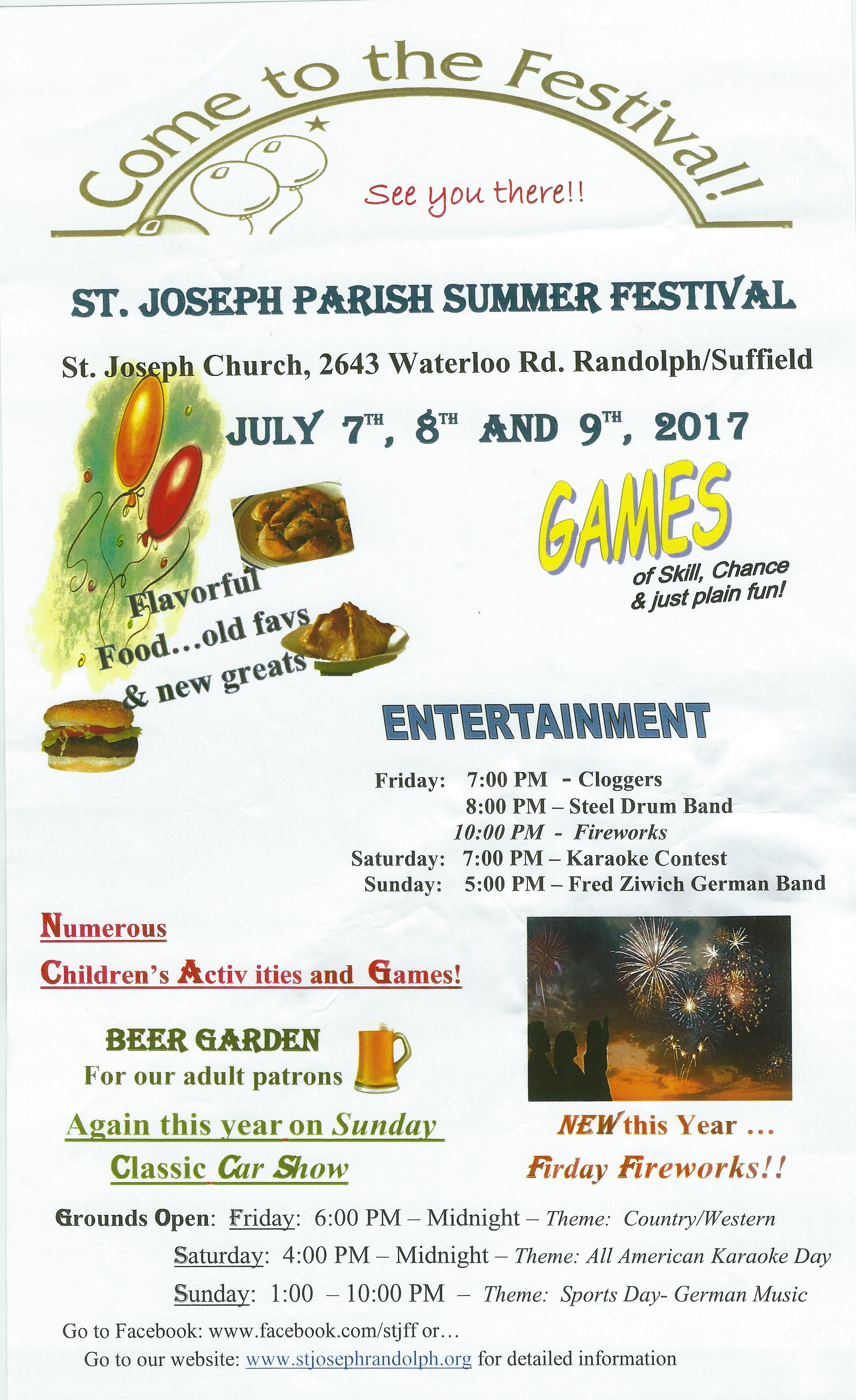 2017 St Josephs Festival flyer