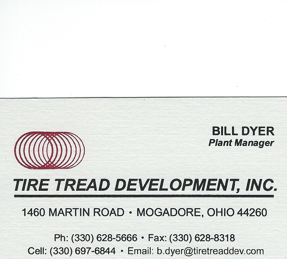 Bill Dyer Tire Tread Development