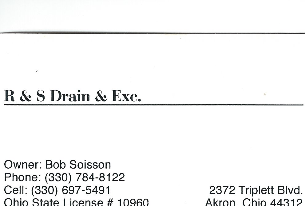 Bob Soisson RS Drain Excavating
