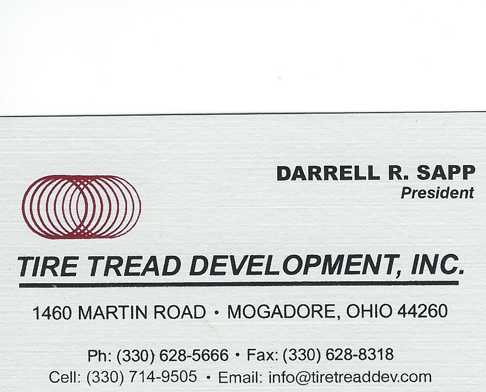 Darrell R. Sapp Tire Tread Development