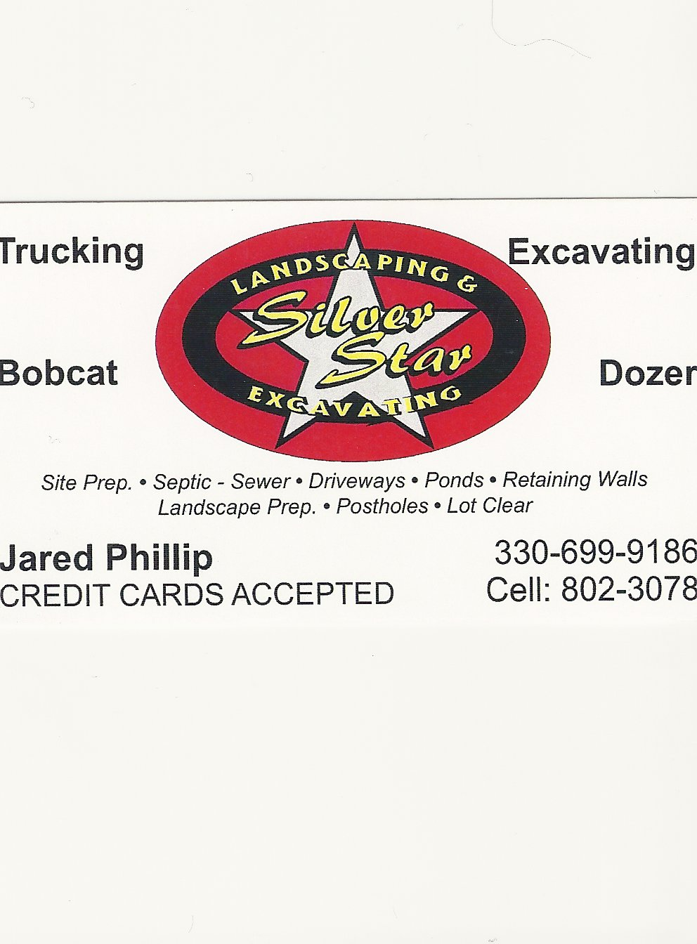 Jared Phillip Silver Star Excavating