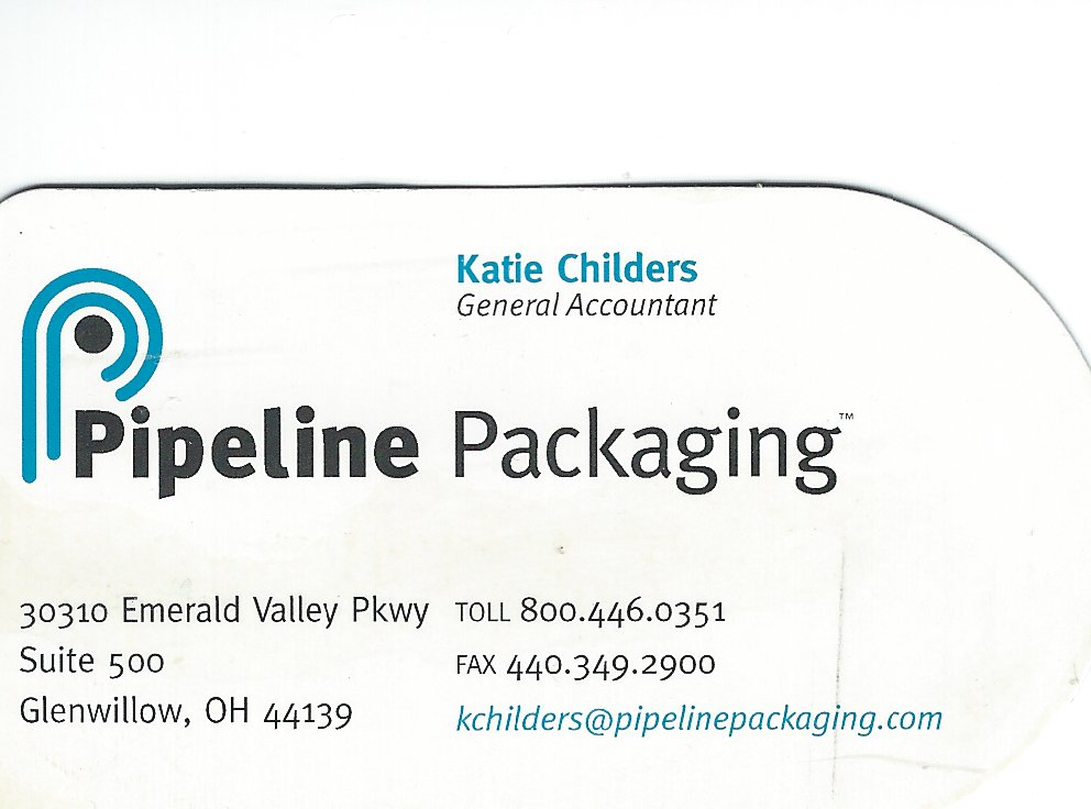 Katie Childers Pipeline Packaging