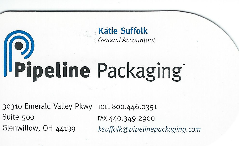 Katie Suffolk Pipeline Packaging