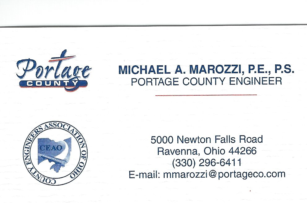 Mickey Marozzi Portage Co Engineer