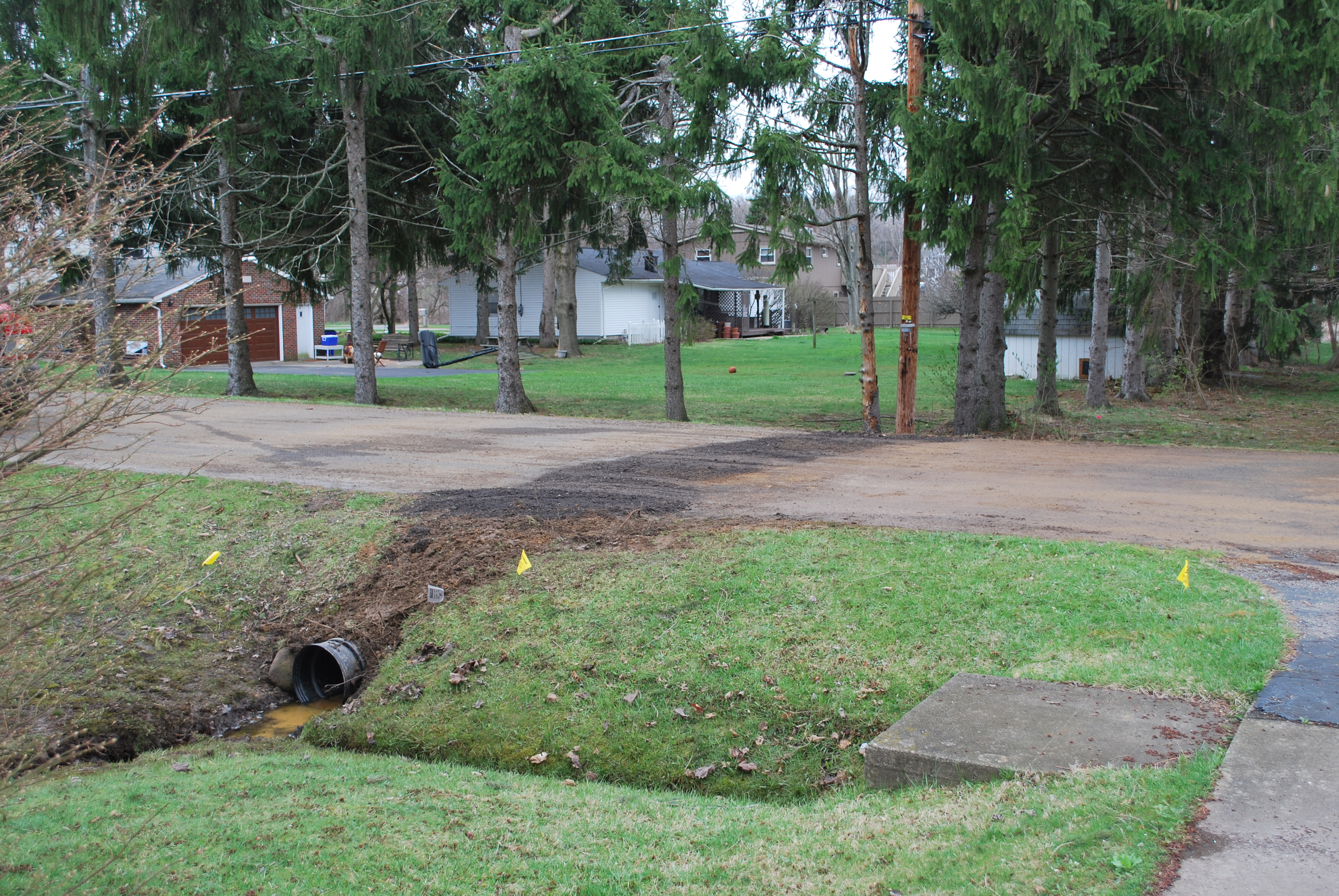 New culvert on Idlewood Drive 04 05 2017
