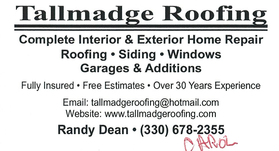 Randy Dean Tallmadge Roofing
