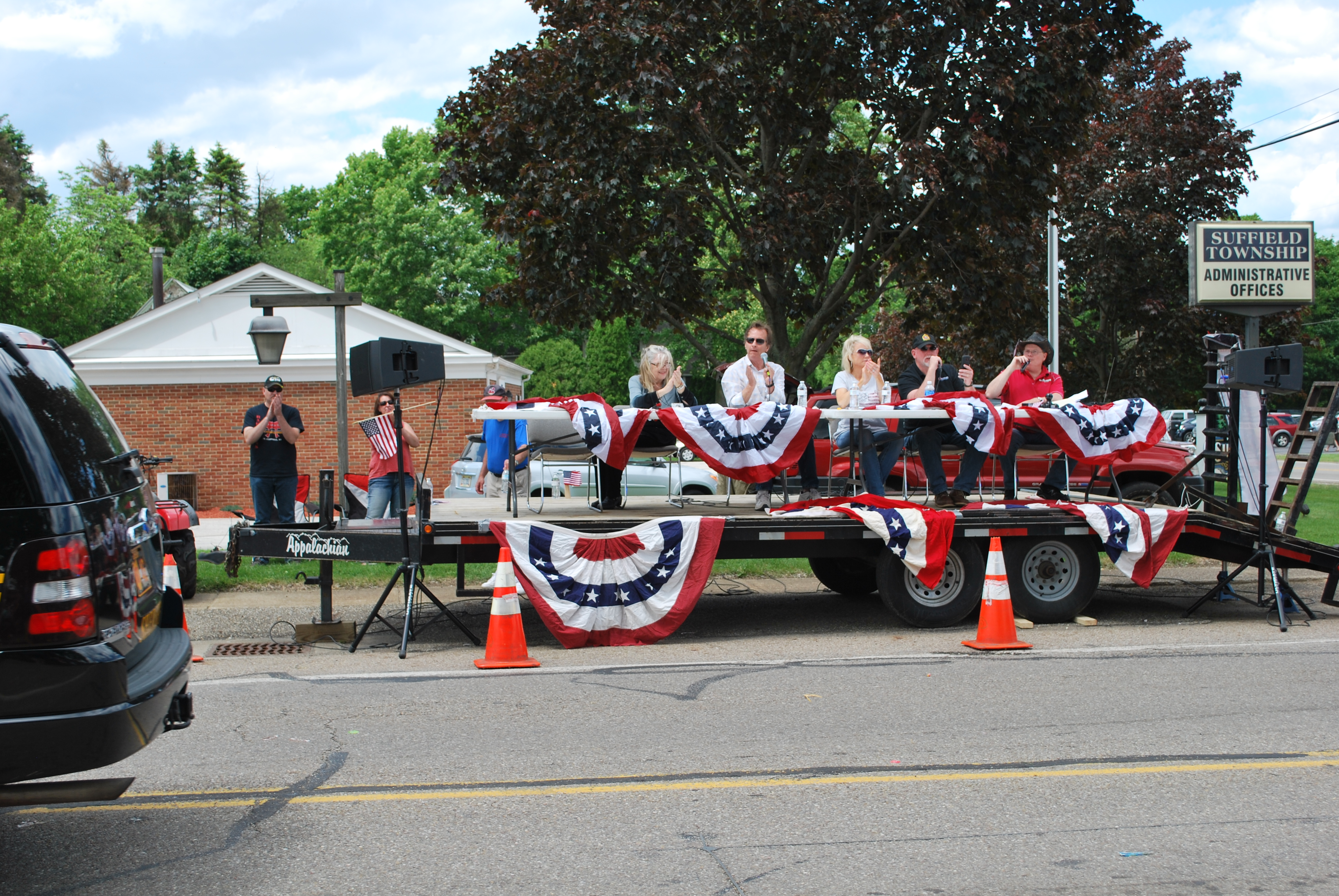 Suffield League Parade announcers 05 29 2017