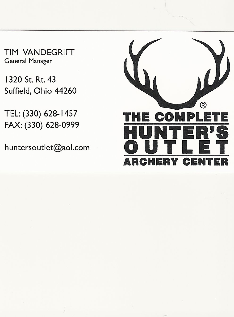 Tim Vandegrift Hunters Outlet