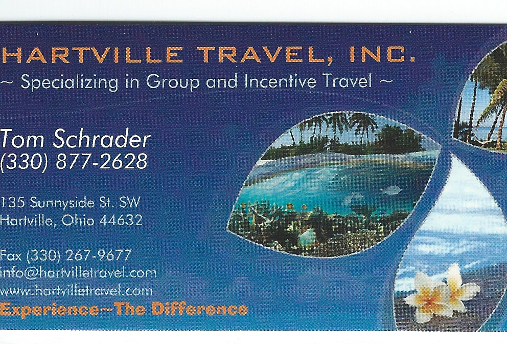 Tom Schrader Hartville Travel redone